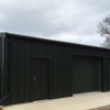 Triple Steel Garage Building