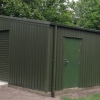 Industrial Storage centre in Olive Green