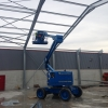 Steel frame being erected