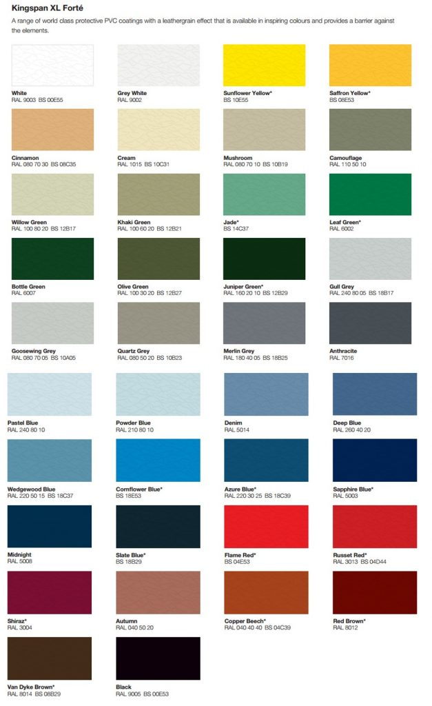 Choosing colour for steel building