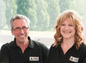Karen and Jonathan Bradley owners of Sharp and Strong Ltd