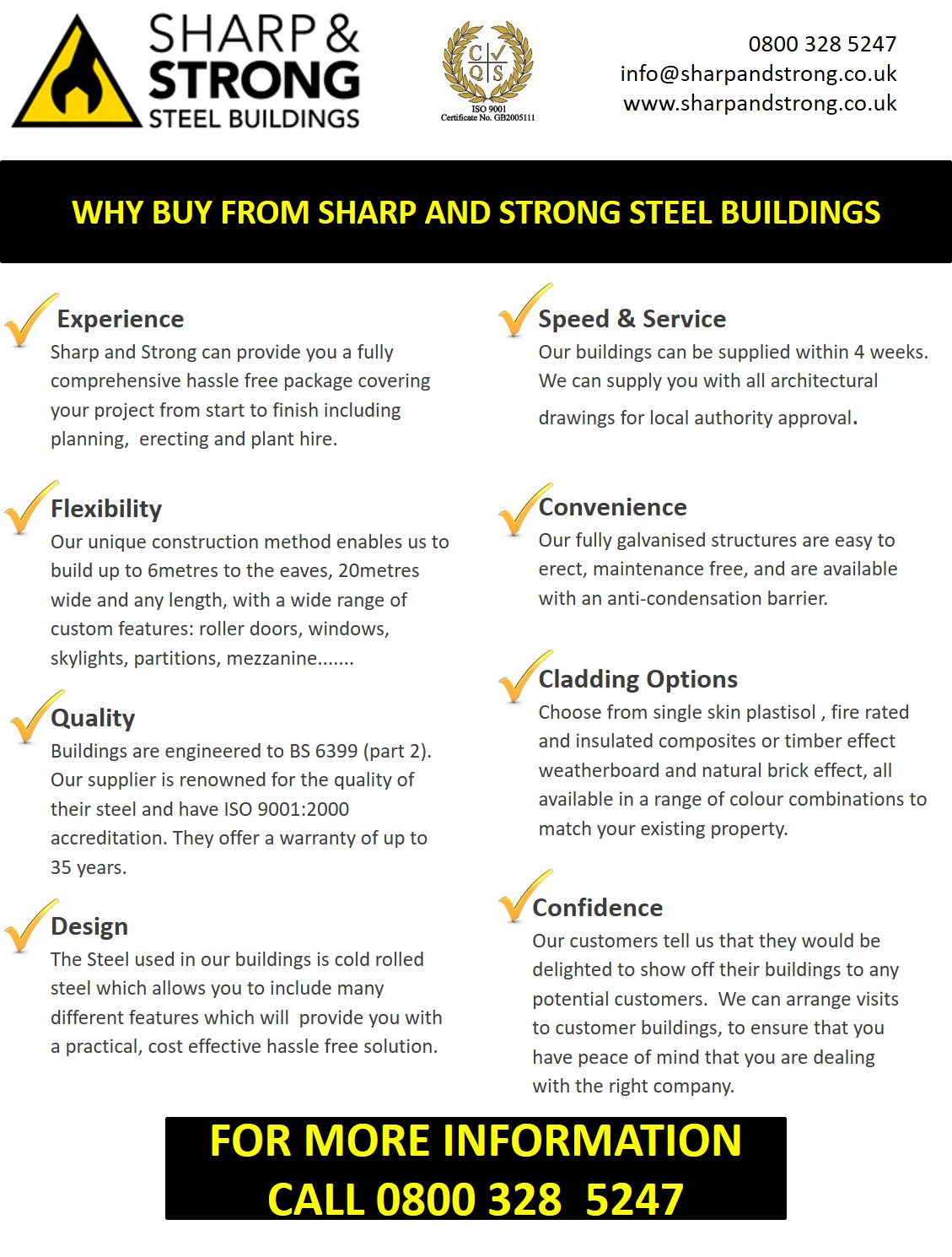 WHY CHOOSE SHARP AND STRONG LTD - 2017