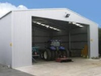 Agricultural steel building by Sharp and Strong Ltd UK