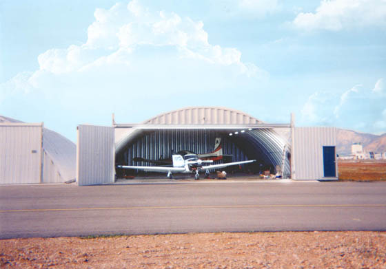 Design airplane hanger and home