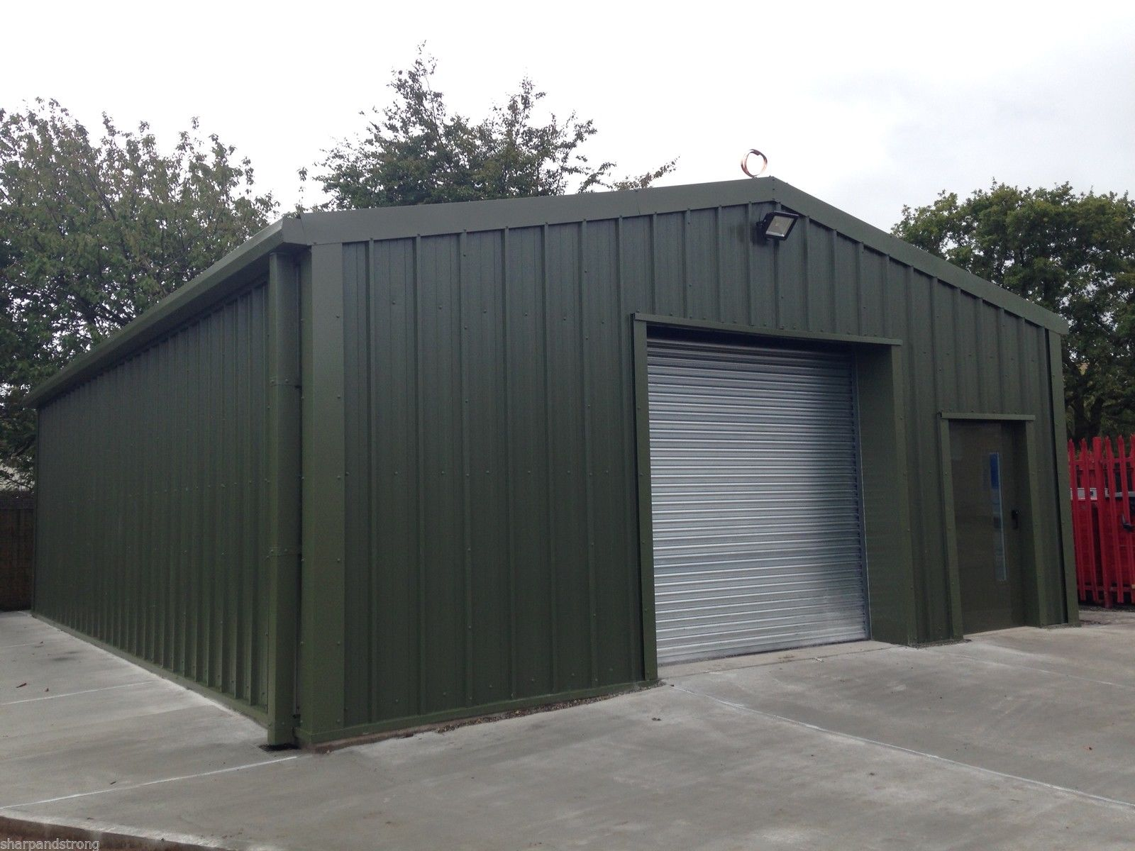 Steel Framed Sheds : Steel industrial buildings history sharp and strong ltd